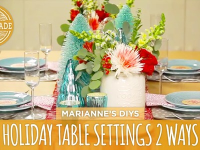 Holiday Table Settings 2 Ways - HGTV Handmade