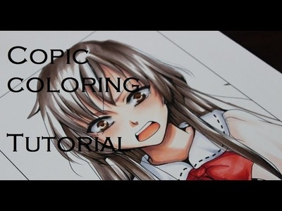 How to color Manga with Copic Markers