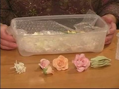 How to Make Sugar Gum Paste Flowers : Storing Gum Paste Flowers
