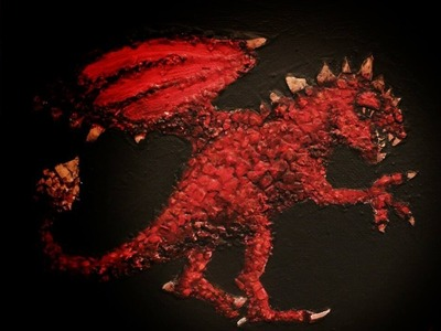 How to PAINT a DRAGON Using EGGSHELLS as TEXTURE