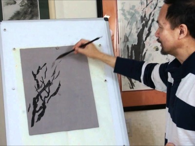 How to Paint Trees in Chinese Brush Painting with Watercolor and Sumi Ink