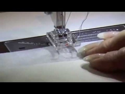 Janome MC 12000 Twin Needle Demo