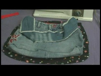 Making Handbags & Carryalls From Recycled Jeans : Make a Jeans Handbag: Cutting Lining for Inside of Bag