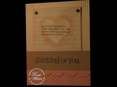 Masked Heart and Clear Mount Stamp Tutorial