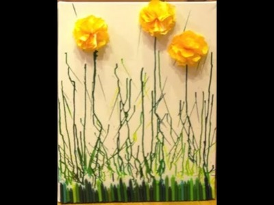 MELTED CRAYON ART FLOWERS