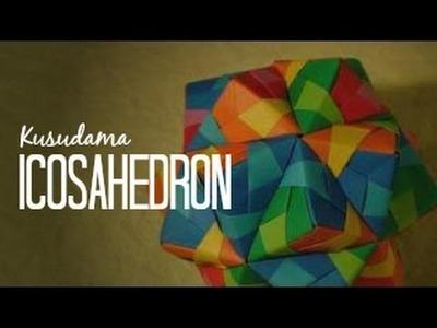 Origami Ball. Kusudama icosahedron Tomoko Fuse