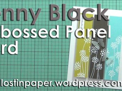 Penny Black Embossed Panel Card