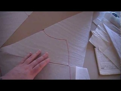 Plus Size Sewing- Modifying a sloper to look like a vintage pattern, part 1 altering the sloper