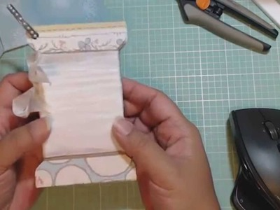 Project Share & Tutorial - Toilet Paper Roll Spool as a Mini Album.Tag.Spool Card