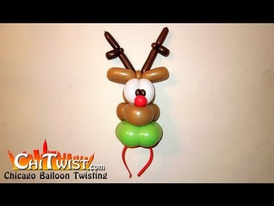 Reindeer Hairband Christmas Balloon | ChiTwist Chicago Balloon Twisting
