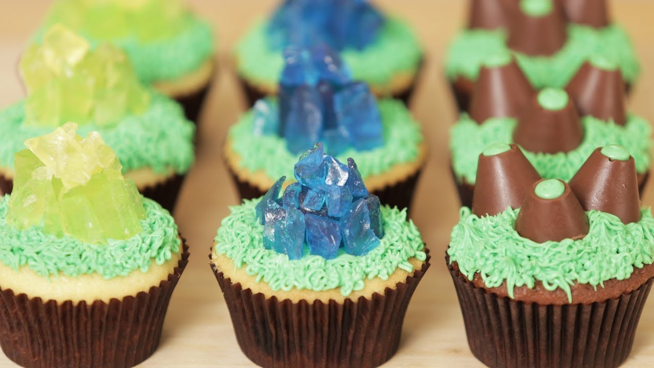 STARCRAFT MINERAL CUPCAKES - NERDY NUMMIES