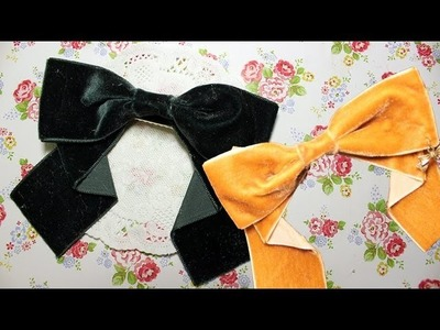 ✎Vintage Velvet✖Charm HairBow - Back to School Collab Part II