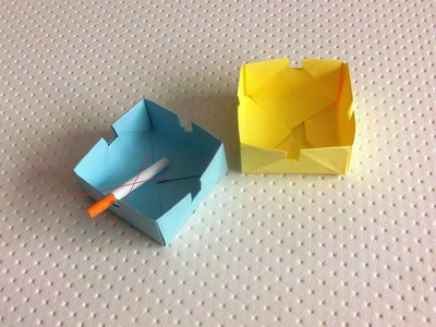 (+18) Origami ashtray - Paper cigarette ashtray (Some Easy) HD