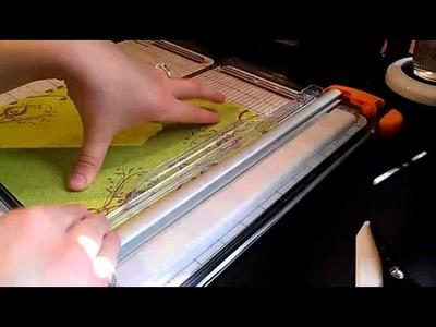 Designer paper corner accented 6x6 envelope