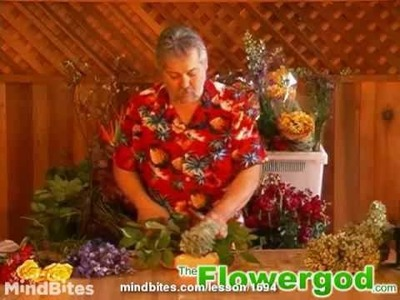 Flower Arrangement: How to Bundle Dellphinium into a Parallel Floral Design