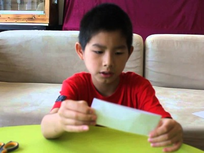How to make a paper boomerang part 1