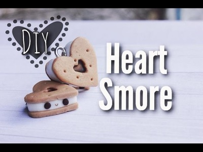 How To Make Kawaii Heart Smores - Polymer clay Tutorial