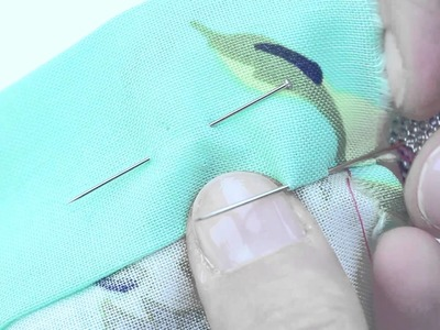Learn How To Hand Sew a Double Turned Hem with a Slip Stitch