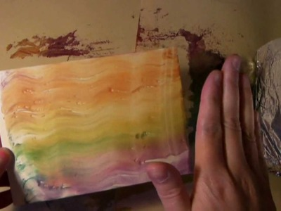 Melted Crayon Technique