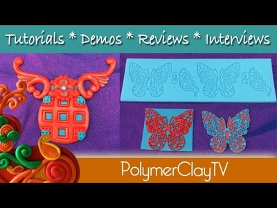 Polymer Clay Tips Faux Filigree Butterflies and Using Parts of Molds and Cutters and 8th Anniversary