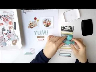 Scrapbooking Process Video : Super Simple Layout