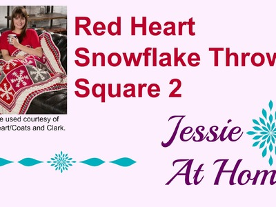 Snowflake Throw; Red Heart; Square 2