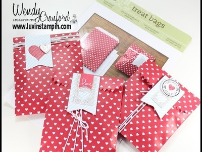 Stampin' UP! Valentine Treat Bags