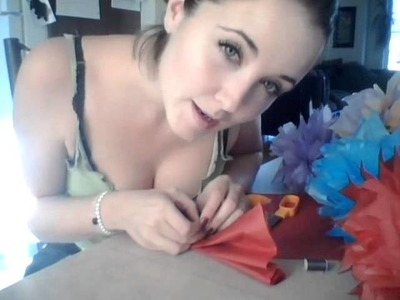 Tutorial on how to make TISSUE PAPER FLOWERS decorations