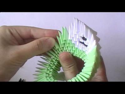 3D origami big teddy bear (pt 1) - Head