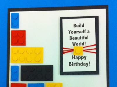 A Birthday Card for anyone that loves Lego! (Tutorial)