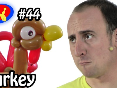 Balloon Turkey - Balloon Animal Lessons #44