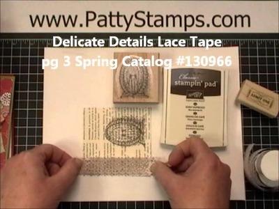 Delicate Details Lace Tape Sponging Tutorial