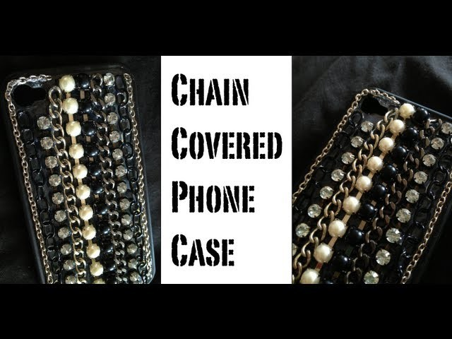 DIY: Chain Covered Phone Case ♡ Theeasydiy #PhoneCaseArt