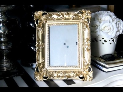 DIY Gold Shabby Chic Frame Makeover