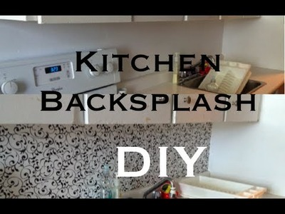 DIY: Kitchen Backsplash ♡ Theeasydiy #RoomDecor