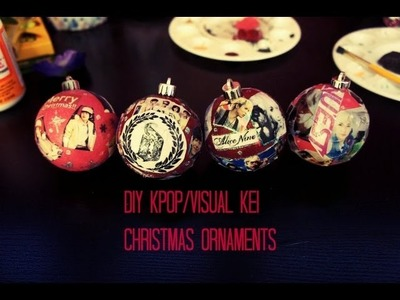 DIY Kpop. Visual Kei Christmas Ornaments