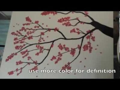 DIY painting JAPANESE Cherry Blossom Tree