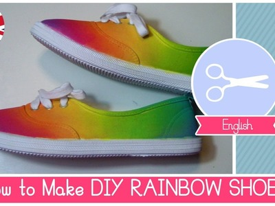 DIY Rainbow SHOES (no dip tie-dye) EASY METHOD by Fantasvale