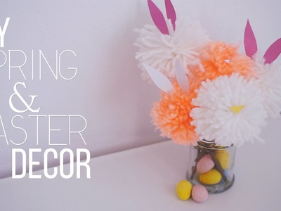 ✂ DIY Spring + Easter Pom Pom Decor