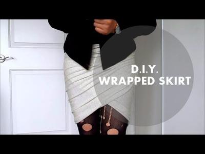 DIY Wrapped Skirt | NANCY MAC