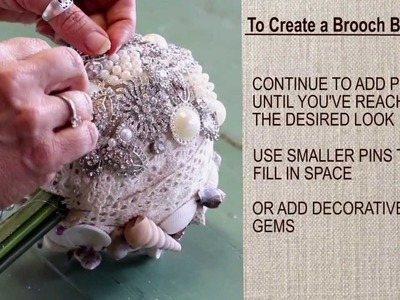Easy DIY Brooch Bouquet and How To Make a Shell Bouquet
