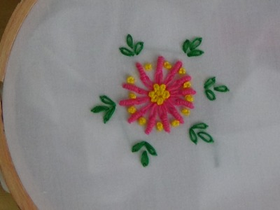 Hand Embroidery: Lazy Daisy & Bullion Knot