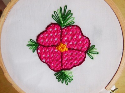 Hand Embroidery: Net Stitch