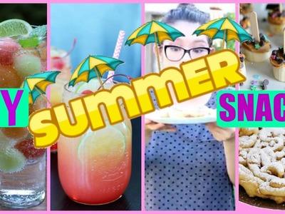 HEALTHY SUMMER SNACKS & TREATS!