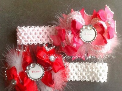 How to add trim.pearls to hair bows