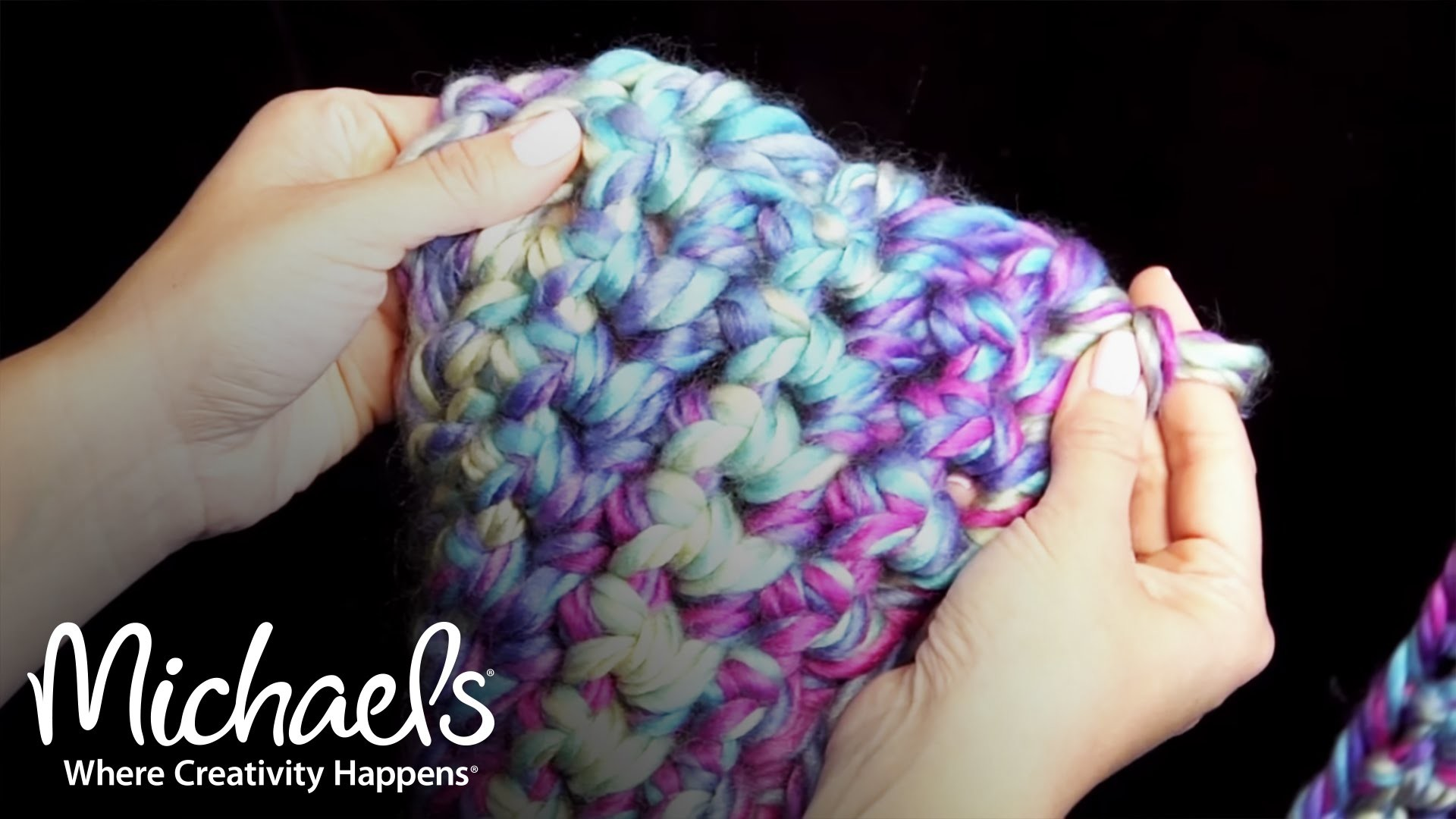 How to Finger Crochet a Scarf | Michaels