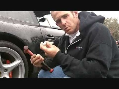 How to fix a door dent on a Porsche Carrera S