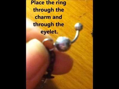 How to make a homemade belly ring