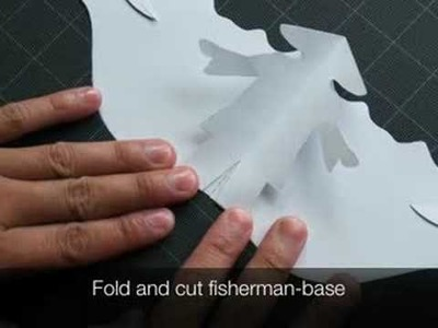 How to make a Kirigami Fisherman Pop-up Card