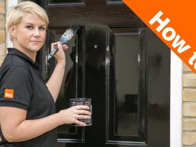 How to Paint an External Door